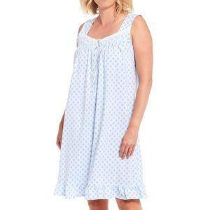 Eileen West Pleasant Dreams Blue Geo Nightgown Med